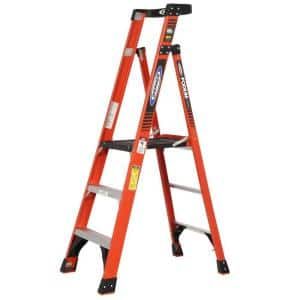 3 ft. Fiberglass Podium Step Ladder ( 9 ft. Reach Height) with 300 lbs. Load Capacity Type IA Duty Rating