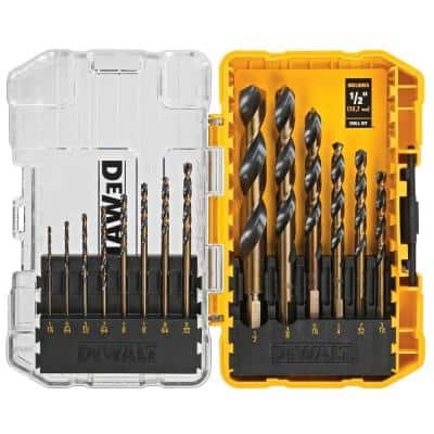 Black and Gold Drill Bit Set (14-Piece)