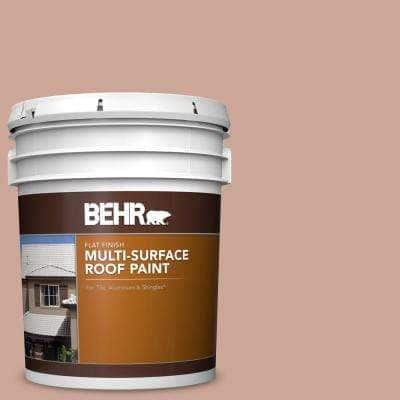 5 gal. #MS-03 Ocean Coral Flat Multi-Surface Exterior Roof Paint
