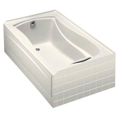 Mariposa 5 ft. Acrylic Left-Hand Drain Rectangular Alcove Soaking Tub in Biscuit