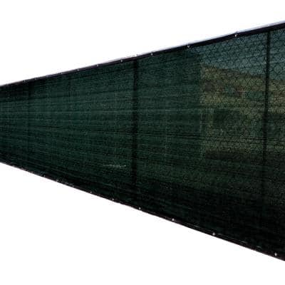 92 in. x 25 ft. Black Privacy Fence Screen Plastic Netting Mesh Fabric Cover with Reinforced Grommets for Garden Fence