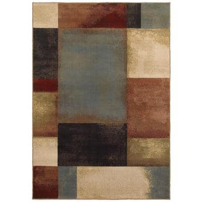 Hayley Multi 2 ft. x 3 ft. Geometric Scatter Area Rug