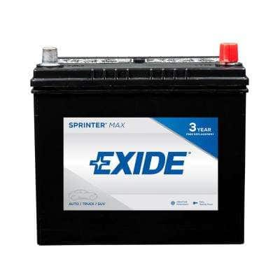 SPRINTER MAX 12 volts Lead Acid 6-Cell 51R Group Size 500 Cold Cranking Amps (BCI) Auto Battery