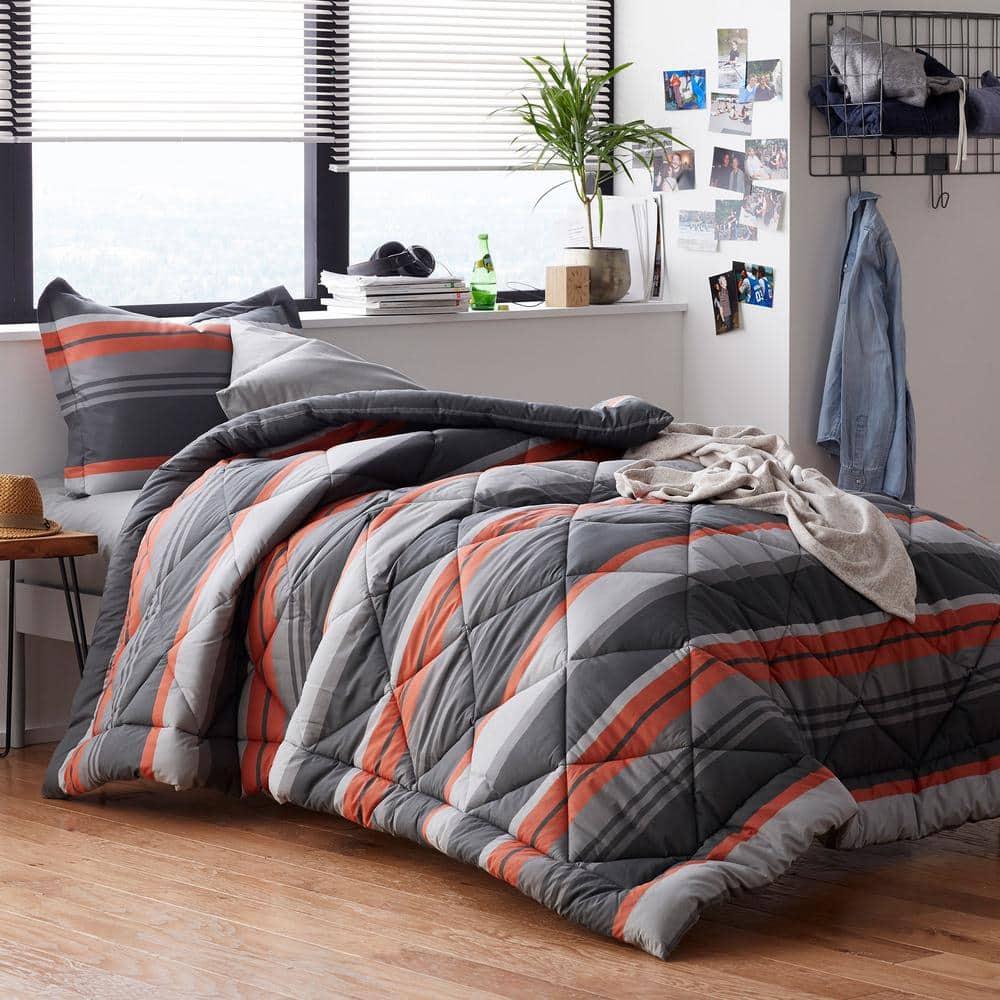 The Company Store Jesse 2 Piece Multicolored Striped Cotton Percale Twin Twin Xl Comforter Set 50398p Ttxl Multi The Home Depot