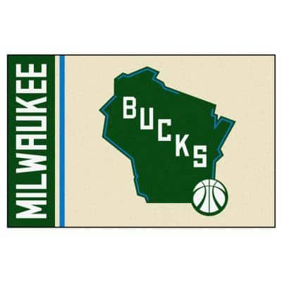 NBA Milwaukee Bucks Cream 2 ft. x 3 ft. Area Rug