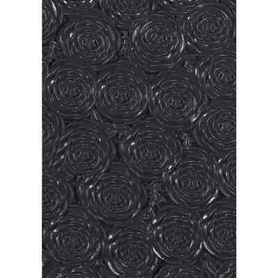 RoseFlower Black Vinyl Peelable Roll (Covers 54 sq. ft.)