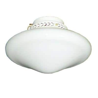113 Tapered Schoolhouse Pure White Ceiling Fan Light