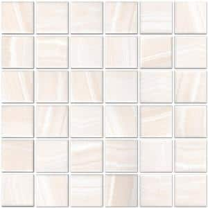 Classic Impressions Onyx 12 in. x 12 in. x 6mm Matte Glazed Porcelain Mesh-Mounted Mosaic Tile