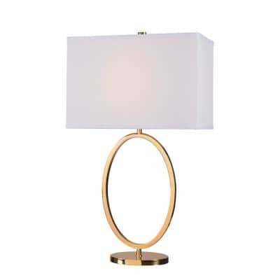 Oke 30.5 in. Table Lamp with White Shade