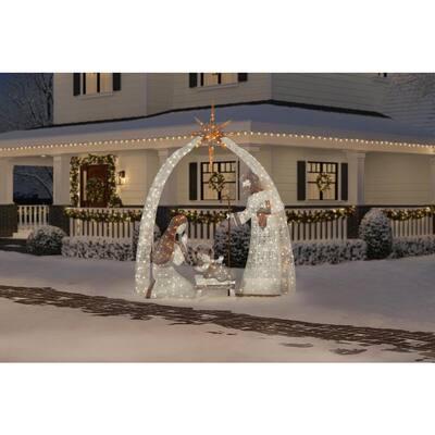 10 ft 440-Light LED Giant Nativity Set