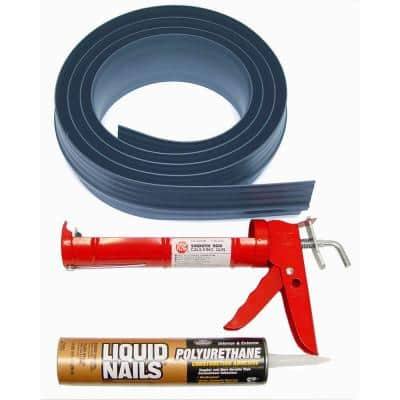 10 ft. 3 in. Gray Garage Door Threshold Kit