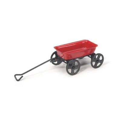 MiniGardenn 10023 Fairy Garden Miniature Little Wagon Red