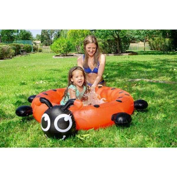 Poolmaster Ladybug 37 In Dia Circle 7 5 In Deep Kiddie Swimming Pool 81609 The Home Depot