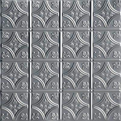 Tiny Tiptoe 2 ft. x 2 ft. Nail Up Lacquered Tin Ceiling Tiles Surface Mount (48 sq. ft./case)