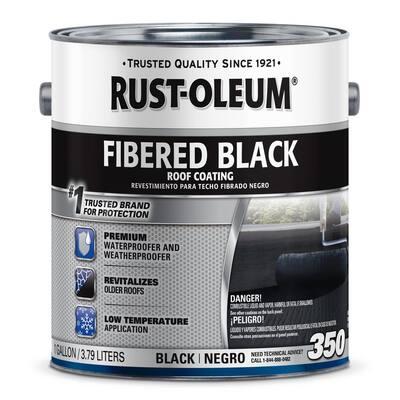 1 Gal. 350 Fibered Black Asphalt Roof Coating (2-Pack)