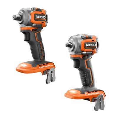 18V SubCompact Brushless Cordless 3/8 in. Impact Wrench and 1/2 in. Impact Wrench Kit (Tools Only)
