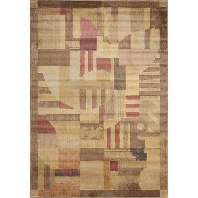 Somerset Multicolor 4 ft. x 6 ft. Abstract Art Deco Area Rug