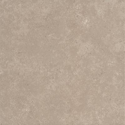 Tesola Taupe 12.28 in. x 12.28 in. Matte Concrete Look Ceramic Floor and Wall Tile (20.96 sq. ft./Case)
