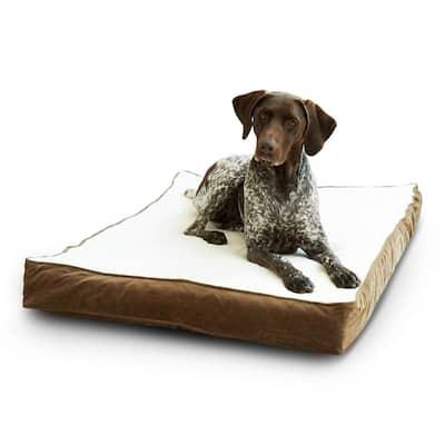 Oscar Orthopedic Medium Latte Dog Bed