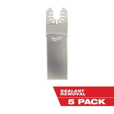 Wide Stainless Steel Tapered Sealant Cutting Multi-Tool Oscillating Blade (5-Piece)