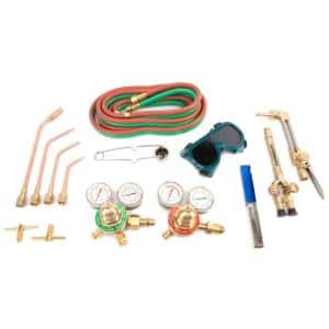 Forney 1707 Torch Kit, Medium Duty, Deluxe Cutting, Victor Type , Heating Torch, Oxygen Acetylene Kit Outfit