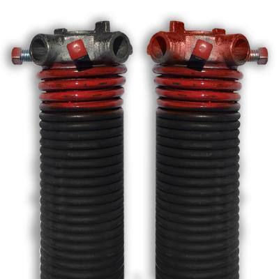 0.225 in. Wire x 2 in. D x 27 in. L Torsion Springs in Red Left and Right Wound Pair for Sectional Garage Doors