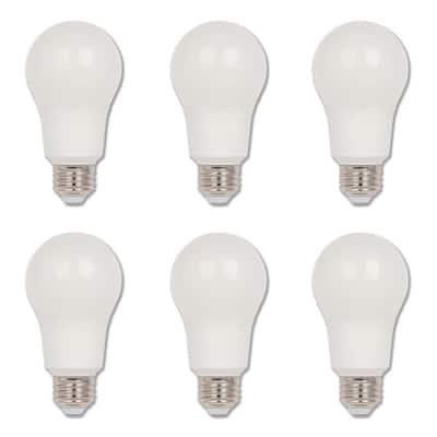 60-Watt Equivalent Omni A19 Dimmable ENERGY STAR LED Light Bulb Bright White Light (6-Pack)