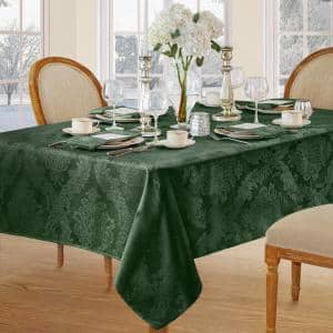 60 in. W x 120 in. L Hunter Elrene Barcelona Damask Fabric Tablecloth