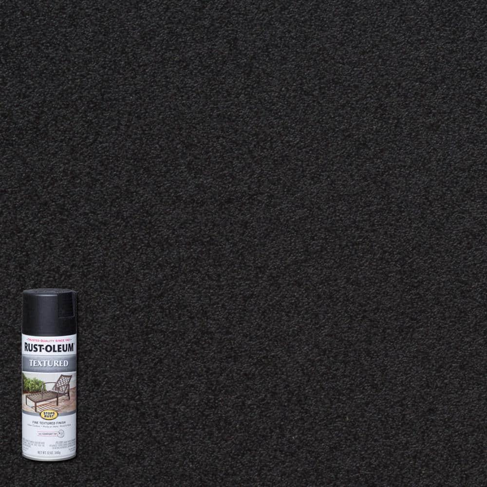 Rust-Oleum Stops Rust 12 oz. Textured Black Protective Spray Paint (6-Pack)
