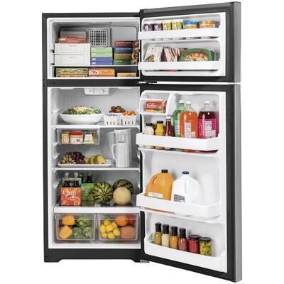 17.5 cu. ft. Top Freezer Refrigerator in Stainless Steel