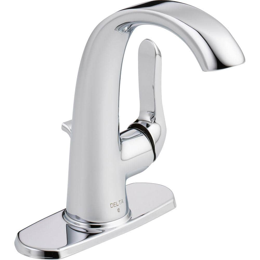 Delta Soline Single Hole Single Handle Bathroom Faucet In Chrome 15714lf Eco The Home Depot