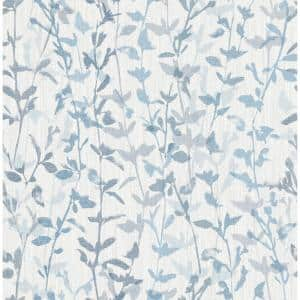 Thea Blue Floral Trail Blue Wallpaper Sample