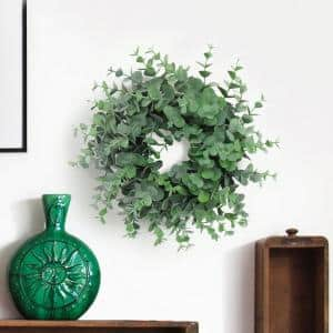 9 in. Artificial Greenery Frosted Petite Eucalyptus Wreath