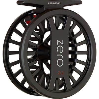 Zero Reel 4/5 Lightweight Trout Angler Fly Fishing Rod Reel in Black