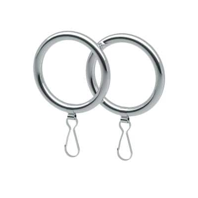 Curtain Rings in Chrome (2-Pack)