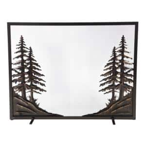 Alpine Steel Flat Guard 1-Panel Fire Screen