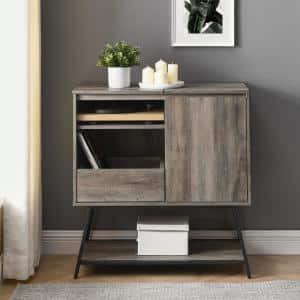 30'' Record Player Accent Cabinet - Grey Wash