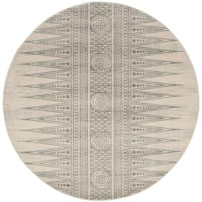 Evoke Ivory/Silver 7 ft. x 7 ft. Round Area Rug