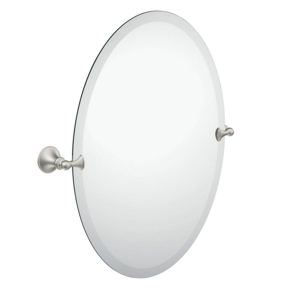 Moen Glenshire 26 In X 22 In Frameless Pivoting Wall Mirror In Spot Resist Brushed Nickel Dn2692bn The Home Depot