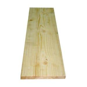 1 in. x 8 in. x 8 ft. Whitewood Ledger Board