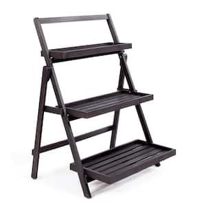 Cletus Dark Grey Wood Plant Stand
