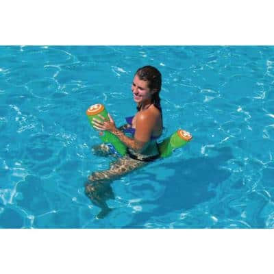 Water Pickle Inflatable Pool Float Noodle with 220 lbs. Capacity - Multicolor (10-Pack)