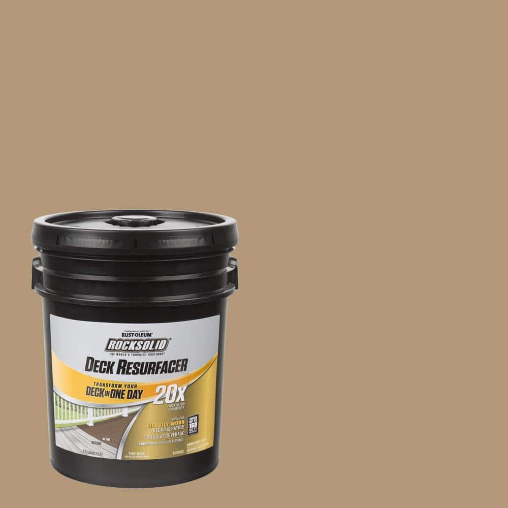 Rust-Oleum RockSolid 4 gal. Sandstone Exterior 20X Deck Resurfacer
