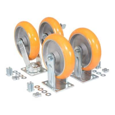 Elastic Polyurethane Caster Kit 8000# Cap