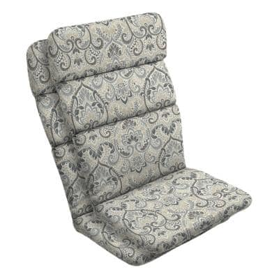 20 in. x 28.5 in. Outdoor Adirondack Chair Cushion in Neutral Aurora Damask (2-Pack)