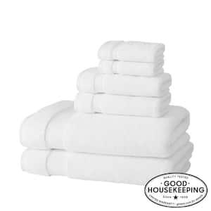 Egyptian Cotton 6-Piece Bath Sheet Towel Set in White