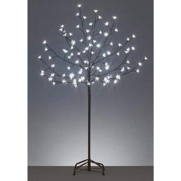 Northlight 6 Ft Led Lighted Cherry Blossom Flower Tree And Warm White Lights 31457862 The Home Depot