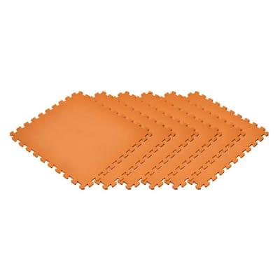 Orange 24 in. x 24 in. x 0.47 in. Foam Interlocking Floor Mat (6-Pack)