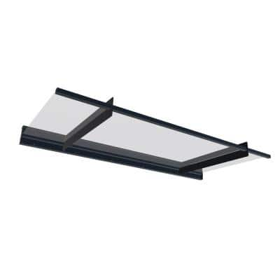 Nancy 2050 6 ft. 9 in. Gray/Clear Door Canopy Awning and Siding Connector Kit