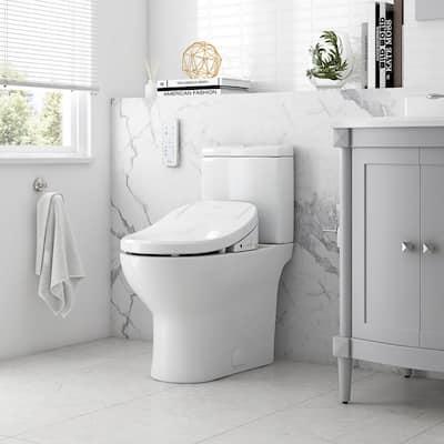Felix Elongated Electric Bidet Toilet in White